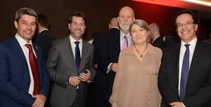 La consejera delegada, con dirigentes de cabildos occidentales y viceconsejero de Turismo.