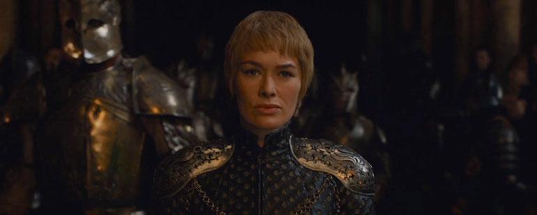 #Juegodetronos 6 corona a Cersei como reina de Juego de Tronos en el final de temporada. Cersei, junto a Montaña. (Fotografía HBO).