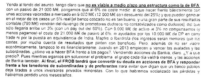 Extracto de los correos electrónicos de los inspectores del Banco de España a los que accedió Meridian.