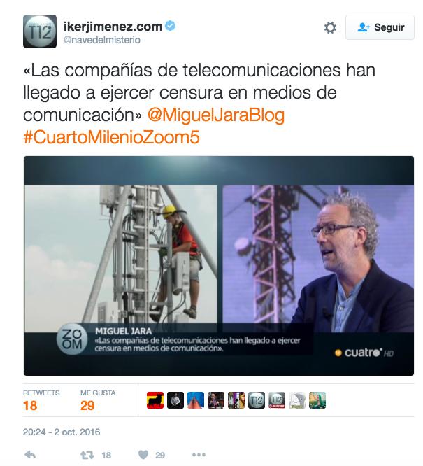 CuartoMilenio destapa riesgos de salud de antenas de telefonía