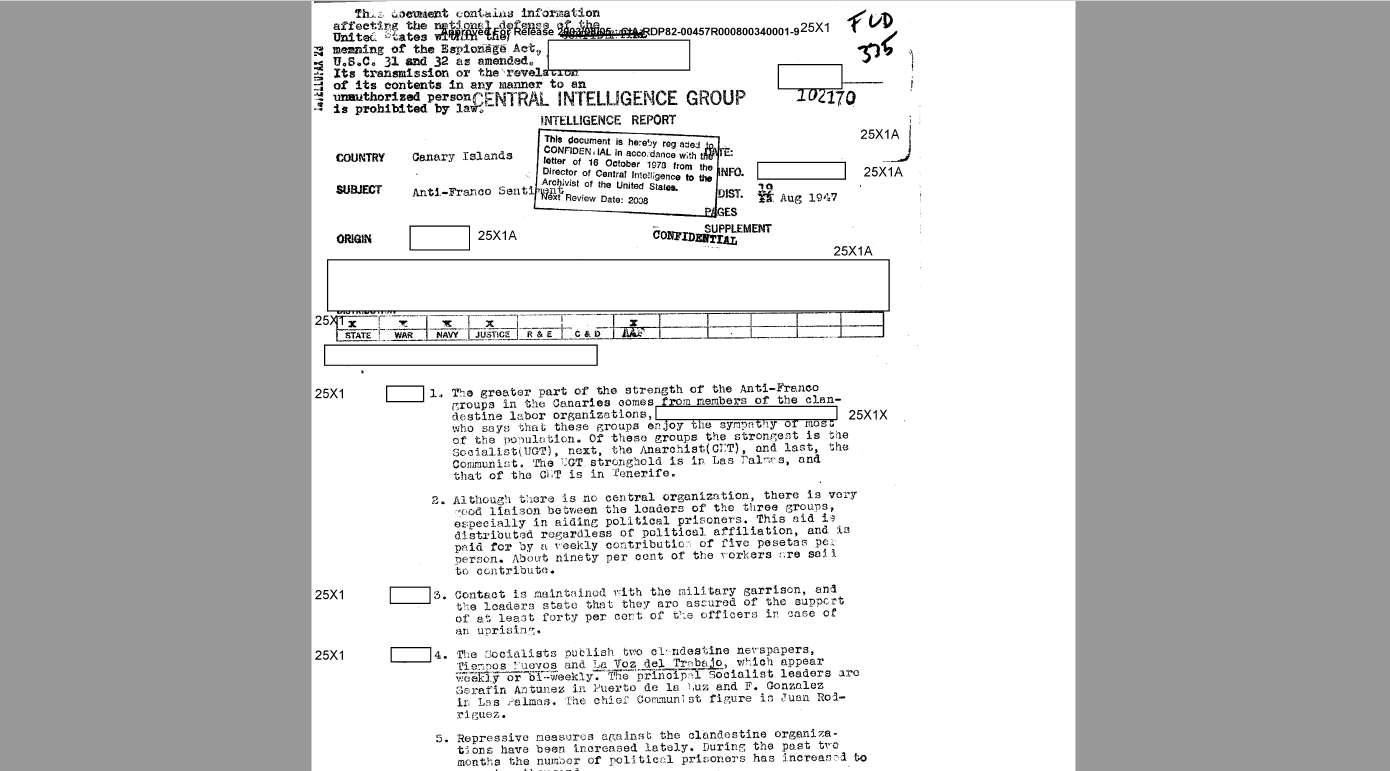 Documentos de la CIA