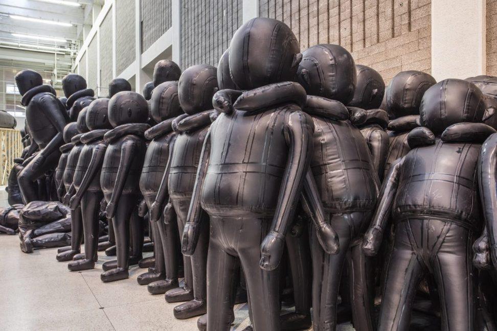 Instalación de Ai Weiwei en progreso. Praga.