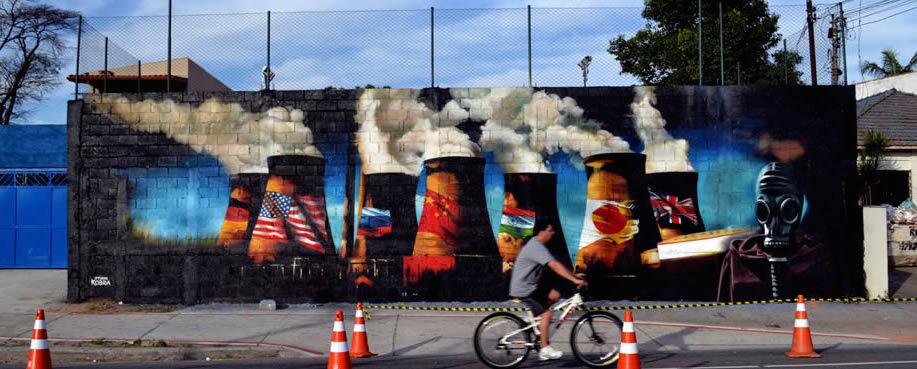 Los graffitis de Kobra cambian los muros de las ciudades.