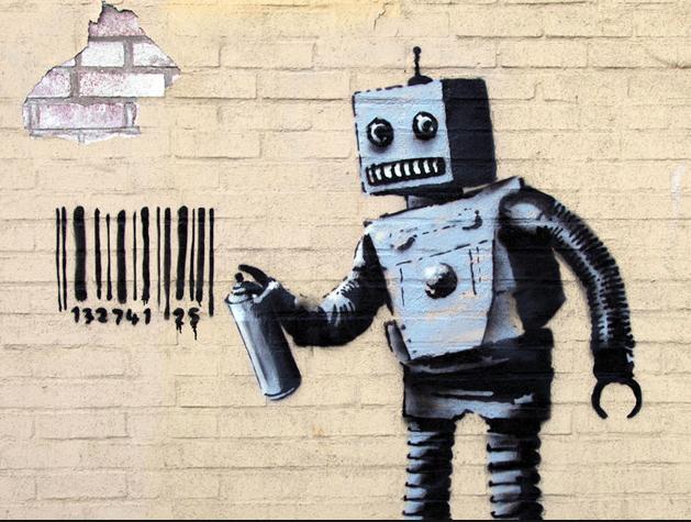 Banksy, genial graffitero de Bristol, escogió varios rincones de Brooklyn para su arte (este particular 'rival' apareció en un muro de 'Coney Island').