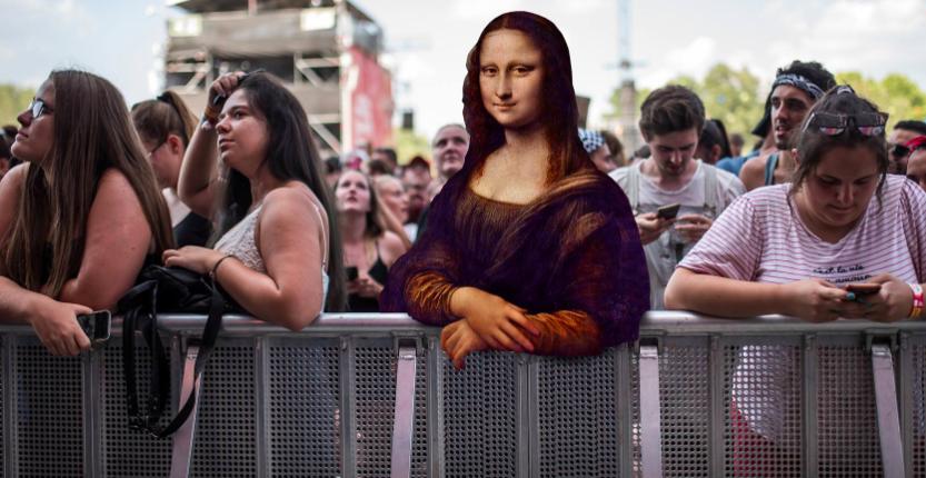¿Te imaginas a la 'Gioconda' de Leonardo en la primera fila de un concierto esperando que la saquen a bailar?