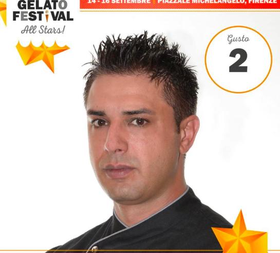 El sabor mandarina del calabrés Eugenio Morrone casi provocó 'desmayos' entre los exigentes paladares (Fotografía Facebook personal del heladero ganador).