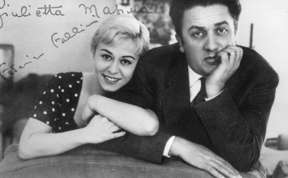 Giulietta Massina junto a Federico Fellini, de quien fue musa toda su carrera y su vida.